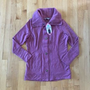 Free Country Mauve Front Snap Cardigan